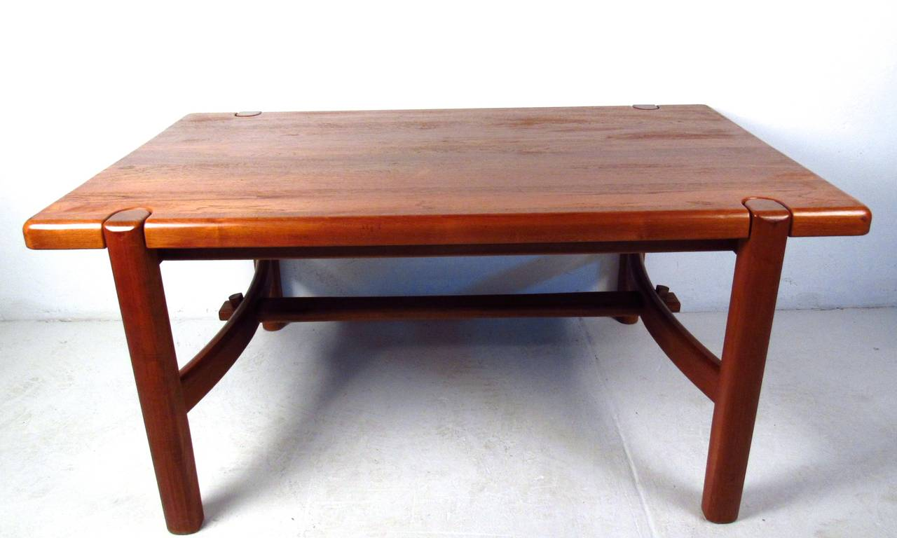 Mid century modern danish teak dining room table for sale for Modern dining room table