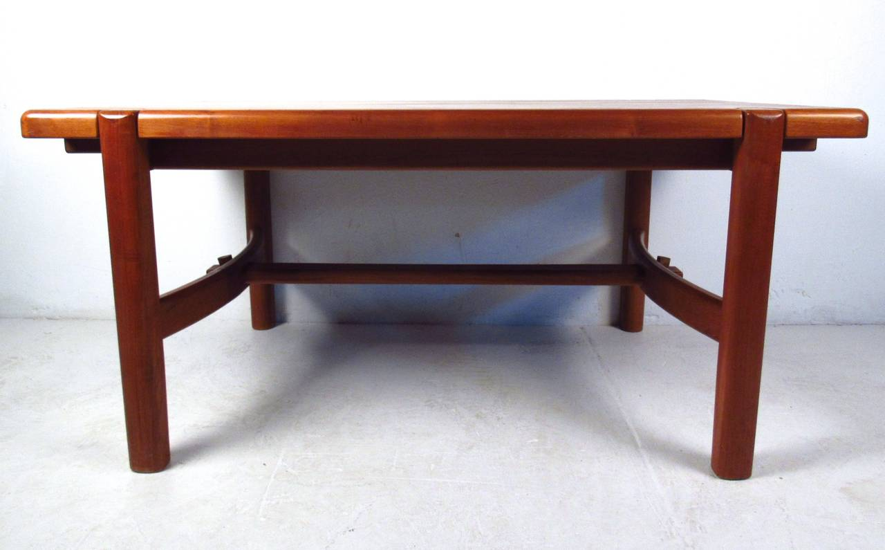 Mid century modern danish teak dining room table for sale for Danish modern dining room table