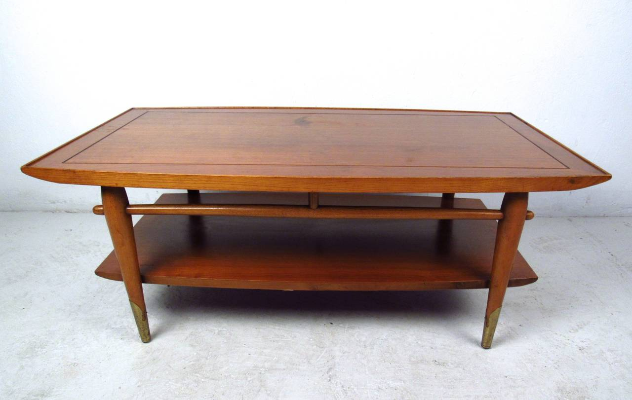 Astounding Mid Century Modern Two Tier Lane Coffee Table Ocoug Best Dining Table And Chair Ideas Images Ocougorg
