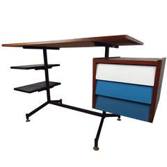 Vintage Modern Desk in the Style of George Nelson
