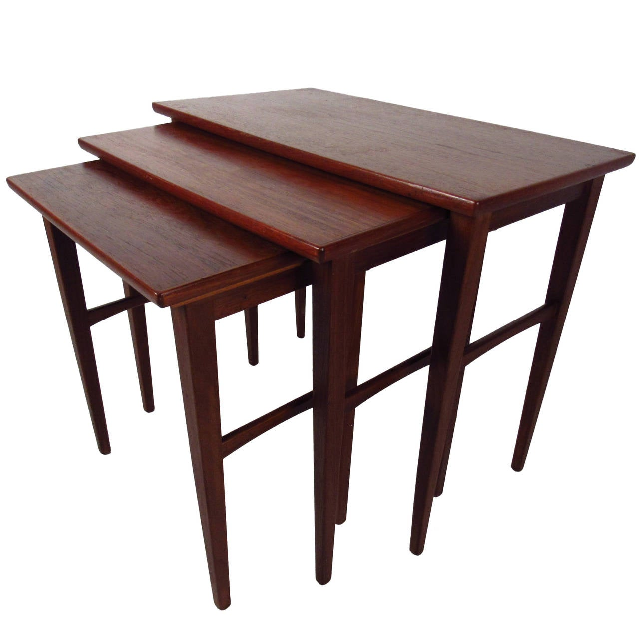 Teak Nesting Tables ~ Scandinavian teak nesting tables at stdibs