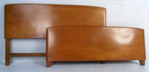 heywood wakefield encore bedroom set vintage maple bed furniture