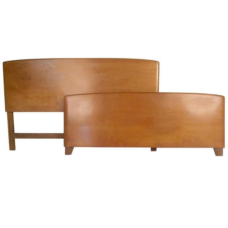 Heywood Wakefield Maple Bed At 1stdibs