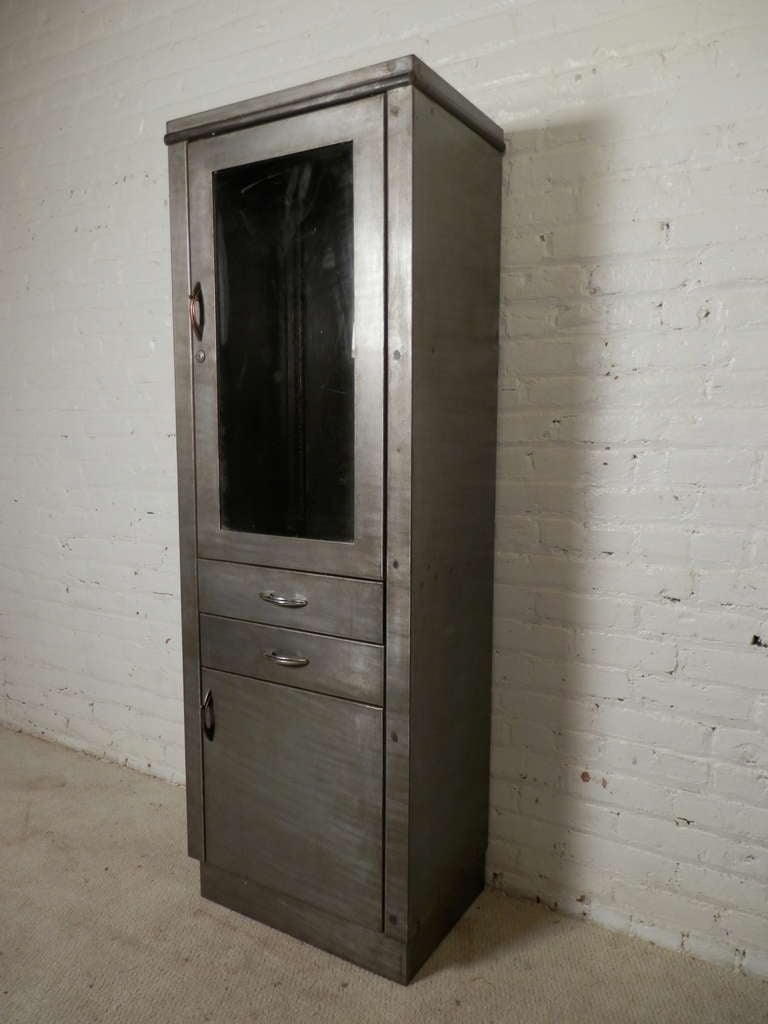 Industrial Metal Display Cabinet For Sale At 1stdibs