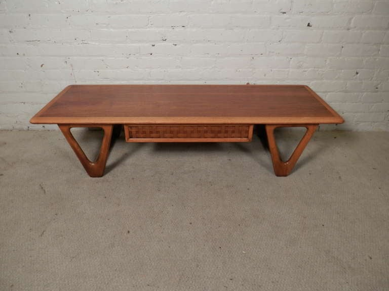 Mid Century Modern Two Tone Coffee Table By Lane For Sale At 1stdibs