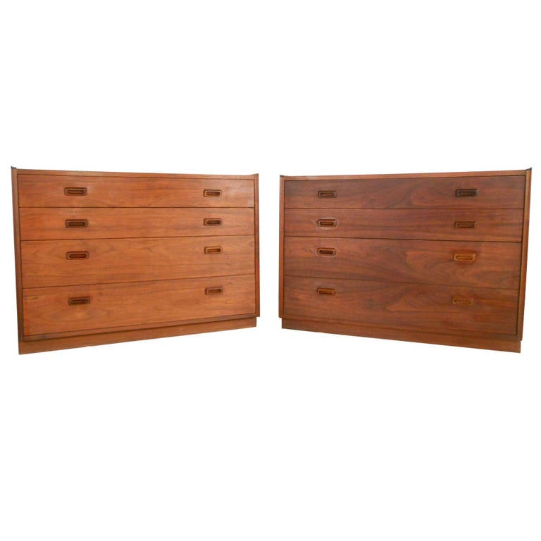 Pair of Mid-Century Dressers by Founders
