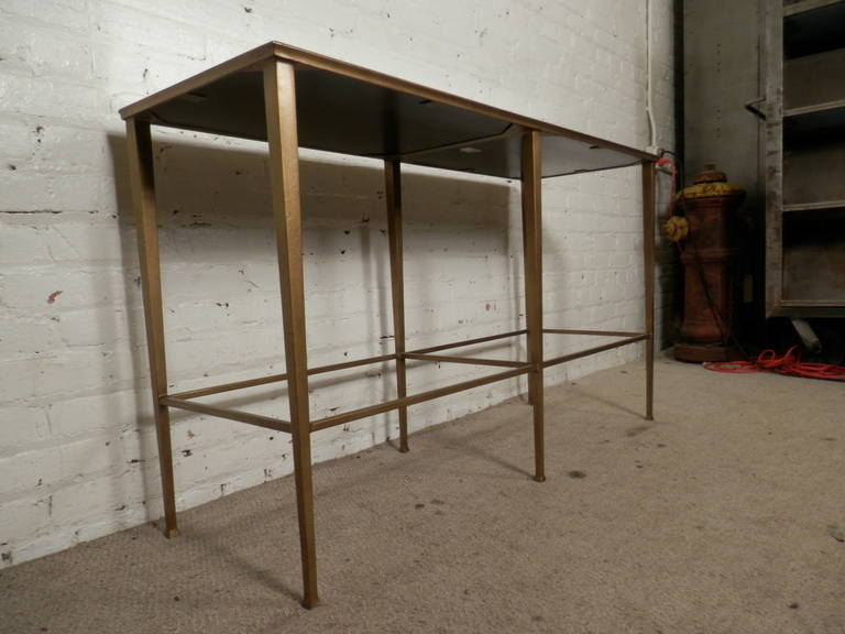 Mid Century Style Mirrored Console Table At 1stdibs