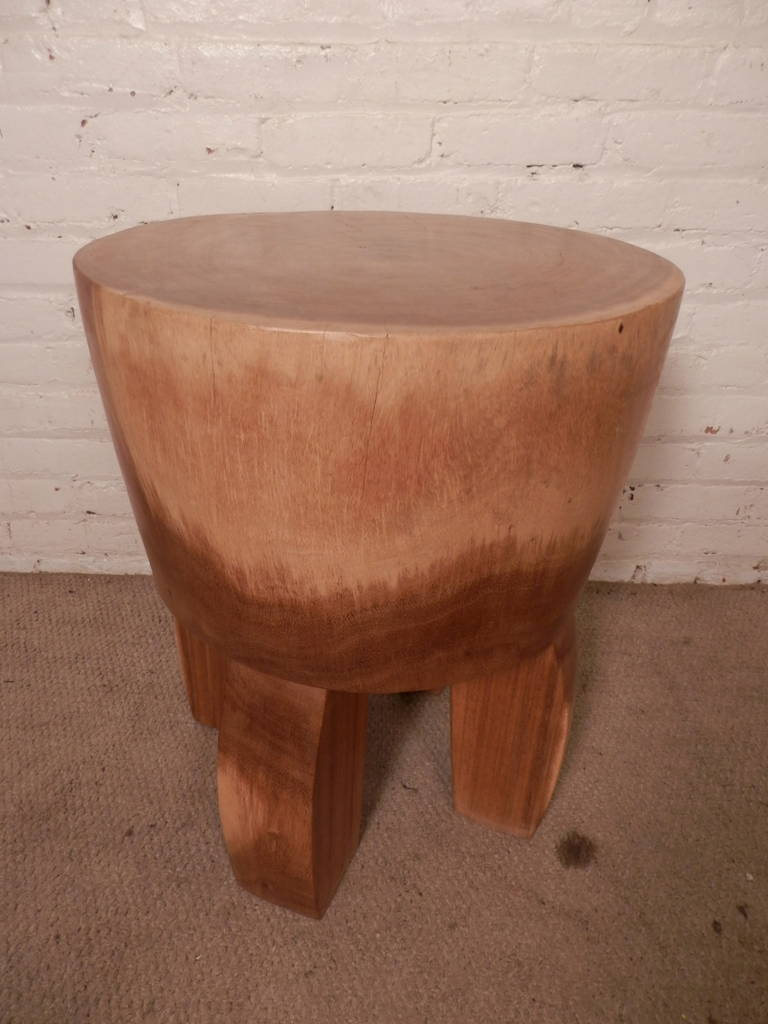 Solid Wood Stools ~ Mid century style solid wood stool for sale at stdibs