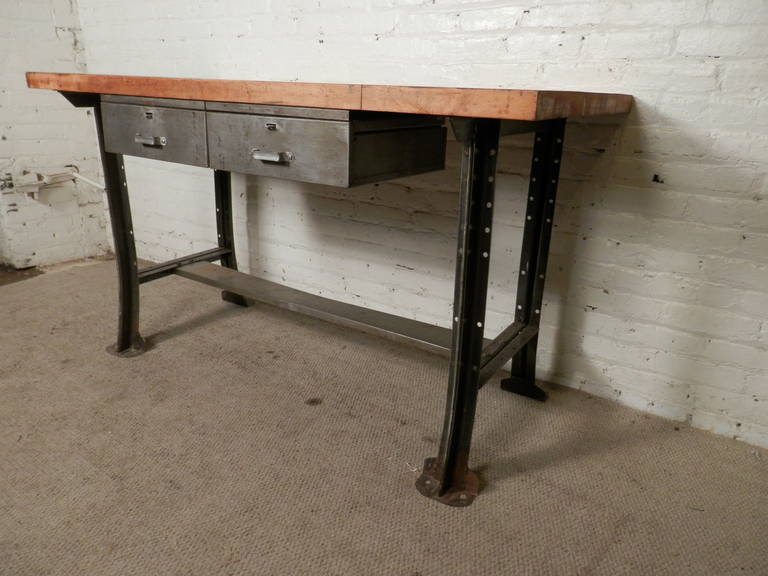 Heavy Duty Industrial Work Table At 1stdibs
