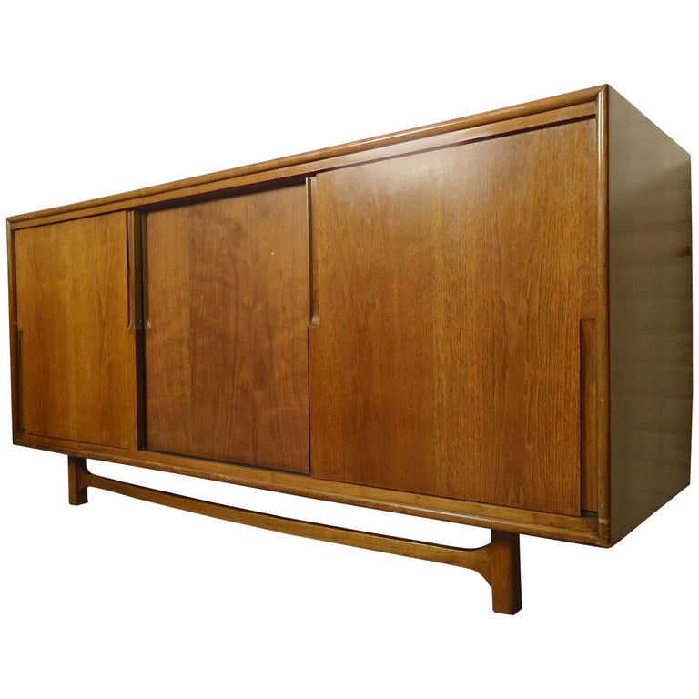 Midcentury Credenza by Cavalier with Hidden Drawers For Sale