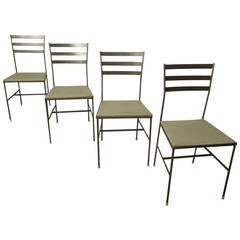 Set of Four Mid Century Iron Chairs by Gallo Original Iron Works, Inc