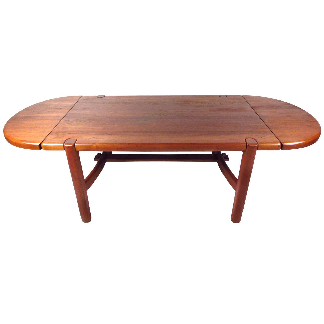 Mid Century Modern Danish Teak Dining Room Table For Sale