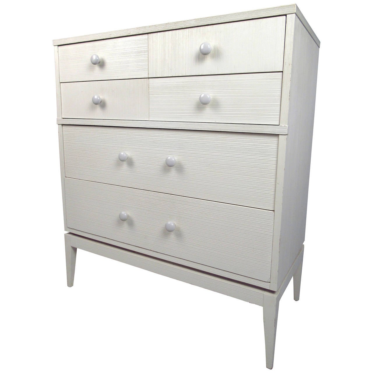 White Four-Drawer High Boy Dresser by Kroehler Furniture