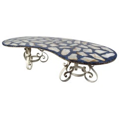 Stunning Italian Modern Kidney Shaped Coffee Table