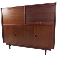 Rosewood Cabinet with Tambour Door