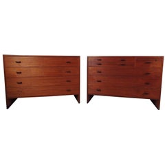 Pair of Vintage Bedroom Dressers in Teak