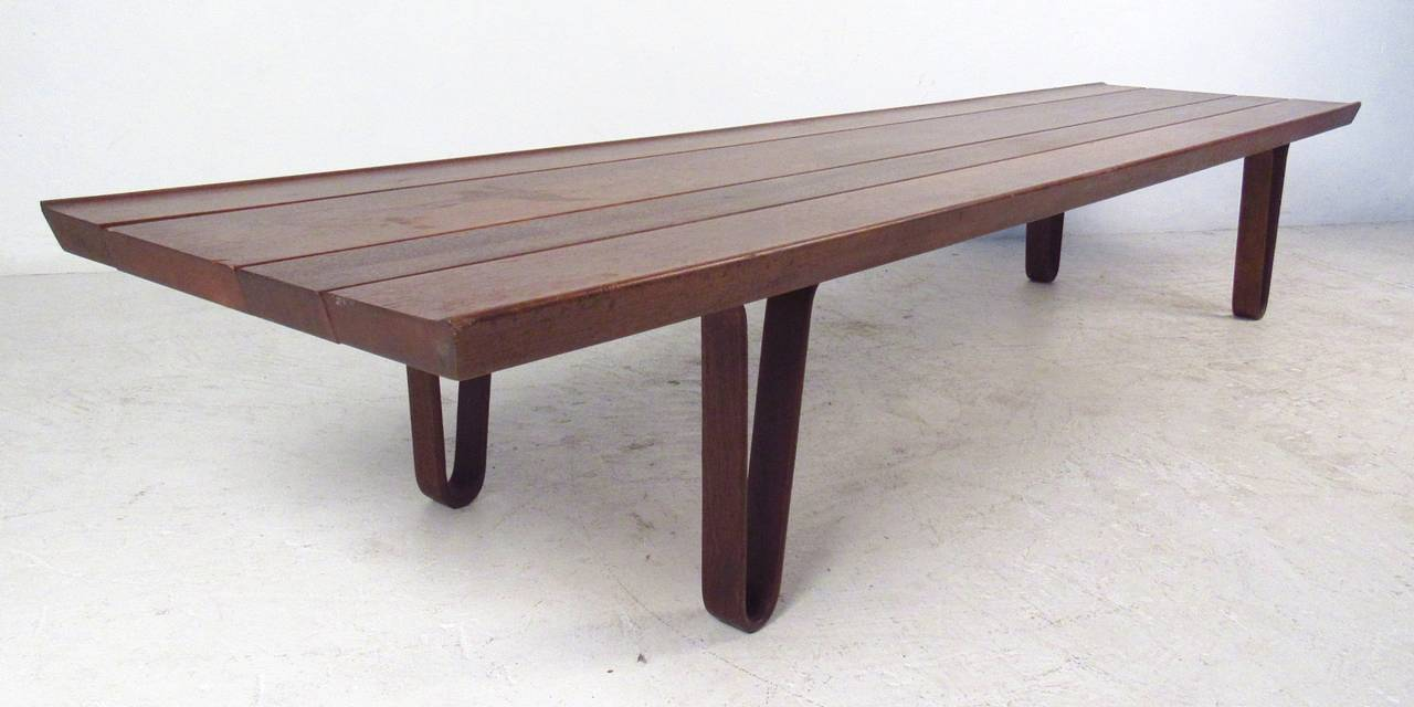 Long John Bench Table By Edward Wormley For Dunbar With Slat Style