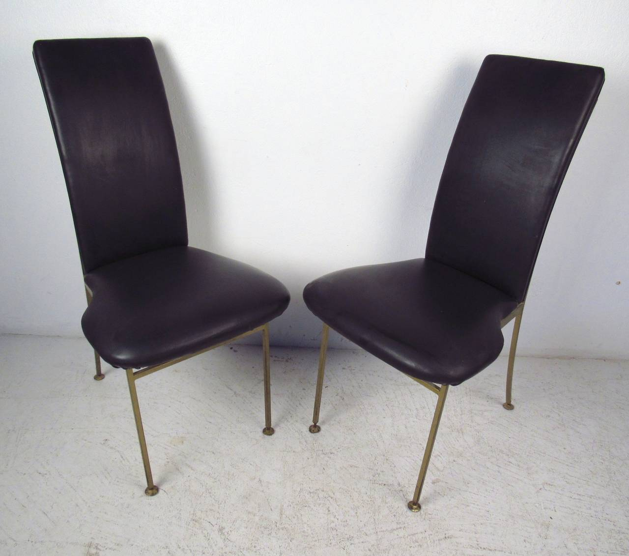Set Of Four Regency Style Brass Chairs For Sale At 1stdibs