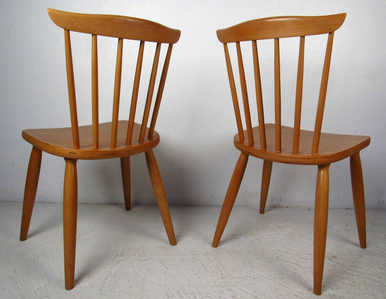 Maple Dining Chairs ~ Mid century pair of paul mccobb style maple dining chairs