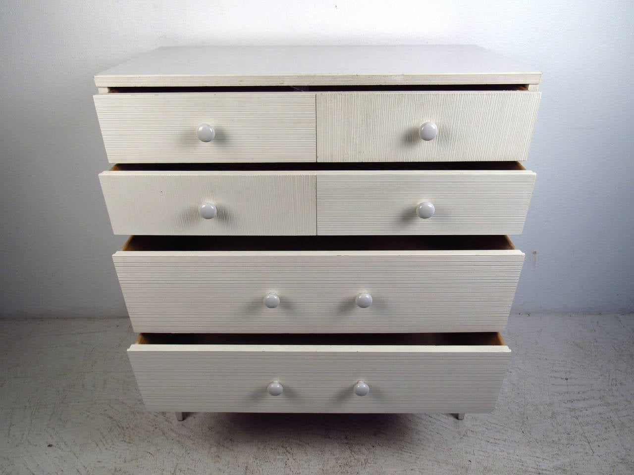 White Four Drawer High Boy Dresser by Kroehler Furniture