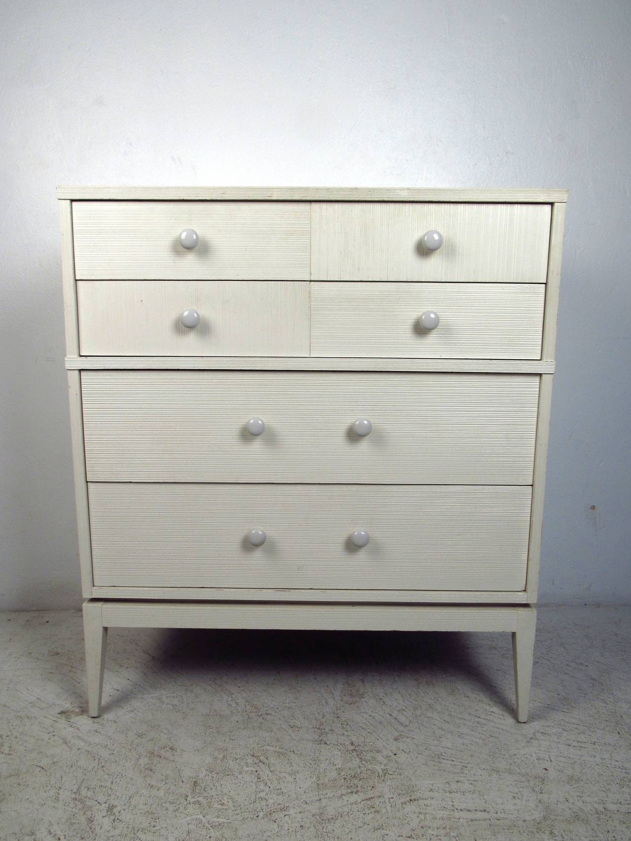 white fourdrawer high boy dresser by kroehler furniture 2 - Kroehler Furniture