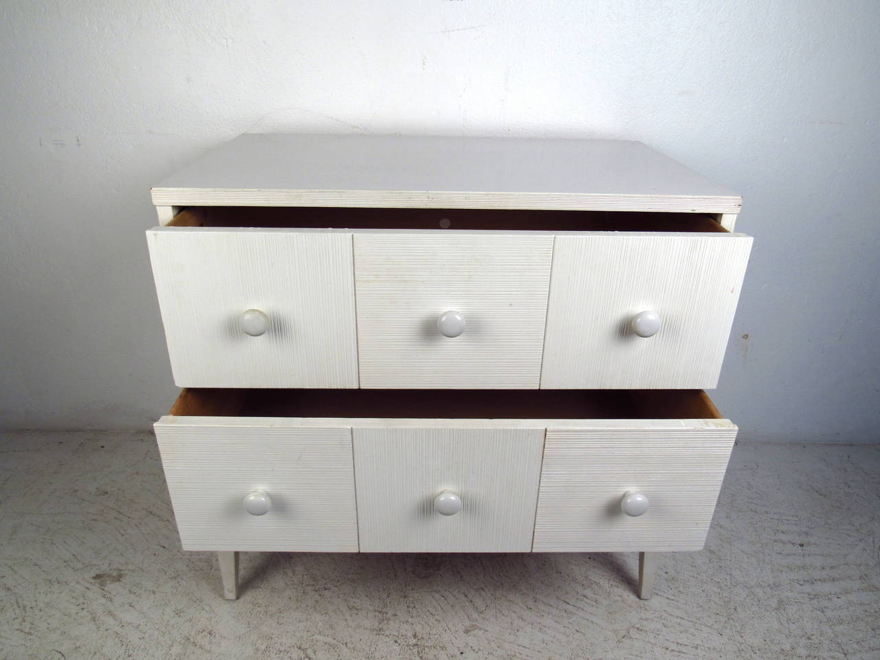 White Two Drawer Chest by Kroehler Furniture at 1stdibs