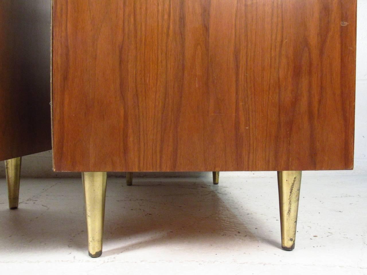 Mid-20th Century Pair of John Stuart Three Drawer Dressers For Sale