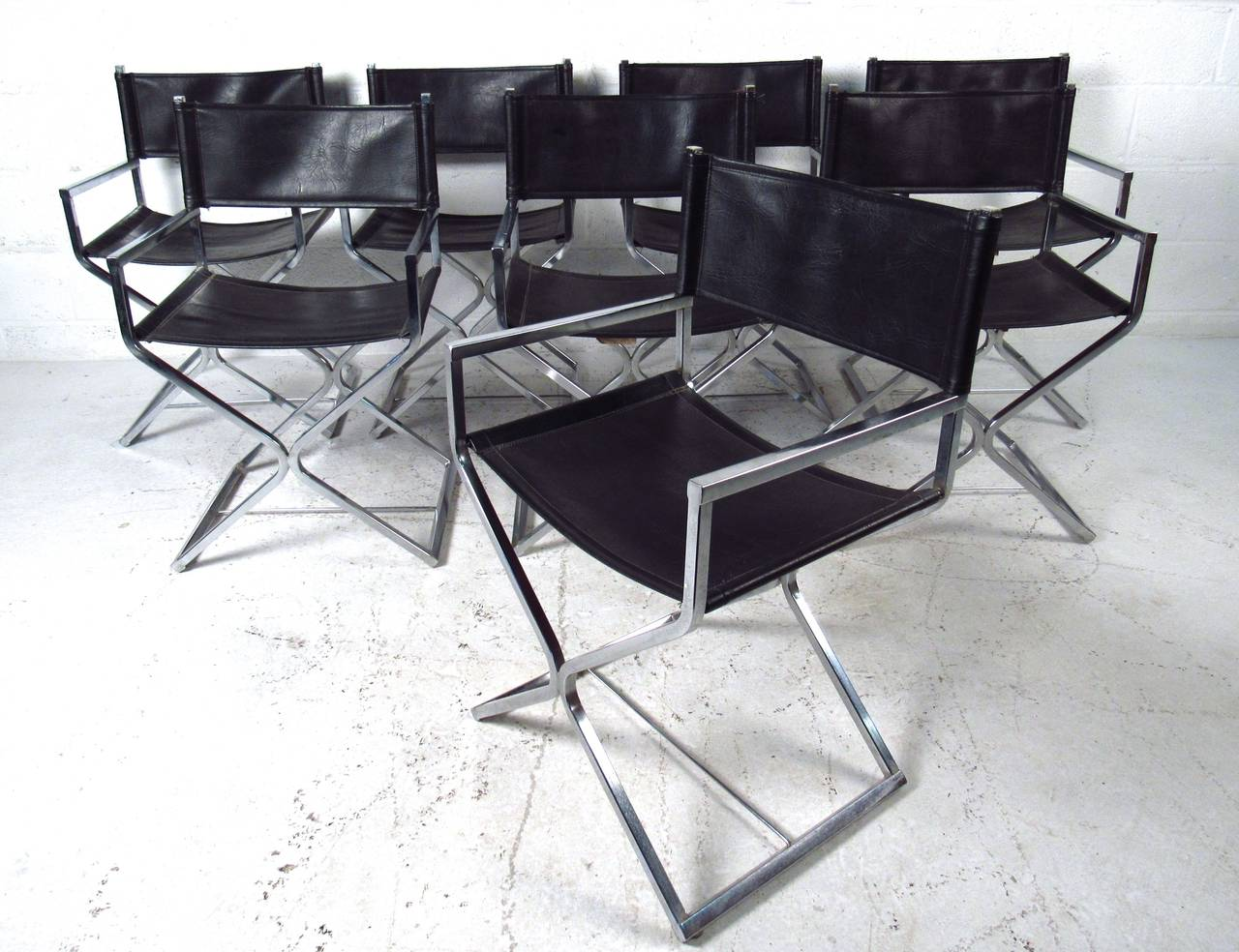This Set Of Eight Matching Director Style Chairs By Virtue California Make A Wonderful And