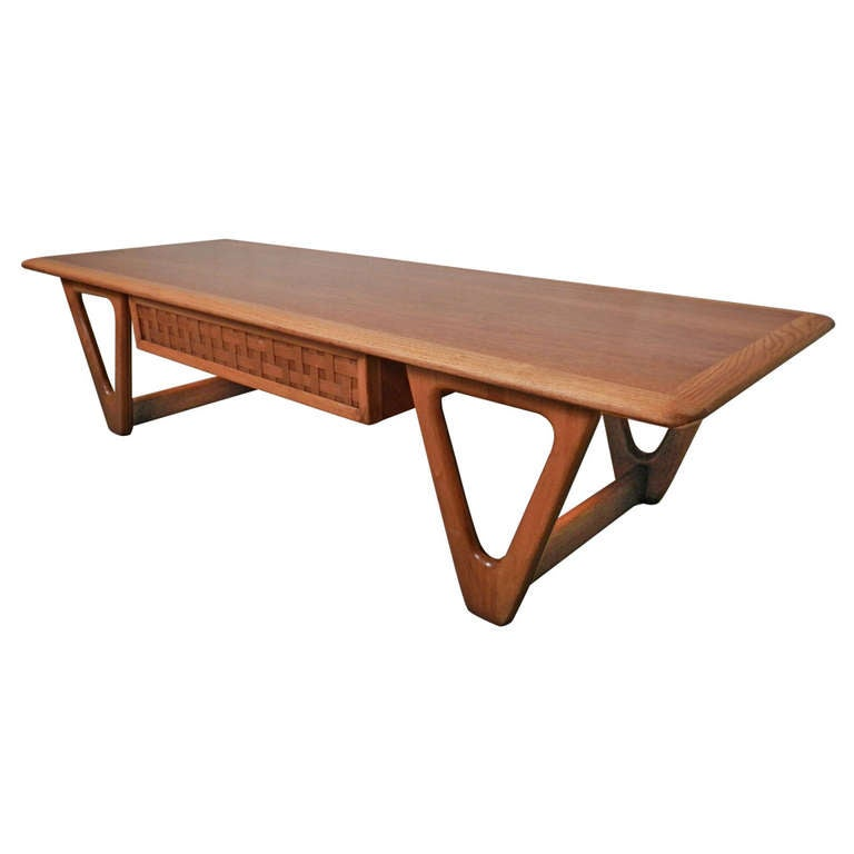 Mid century modern two tone coffee table by lane for sale for Modern coffee table for sale