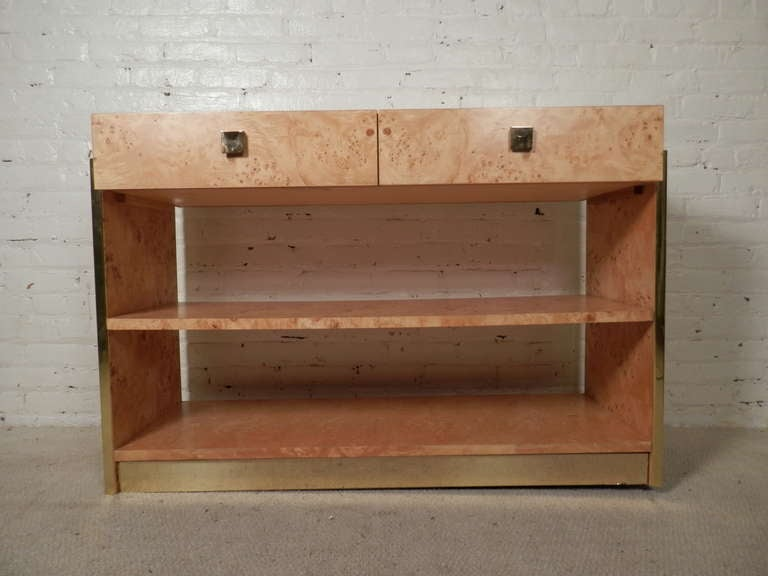 Mid-Century Modern Console In Burl Wood By Thomasville image 2