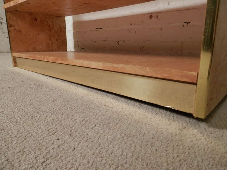 Mid-Century Modern Console In Burl Wood By Thomasville image 7