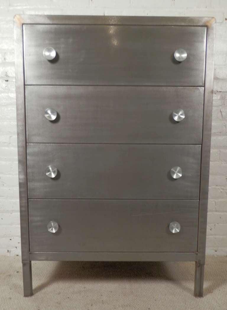 Metal Highbiy Dresser By Simmons At 1stdibs