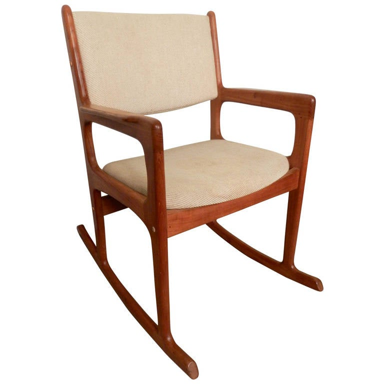 vintage mid century modern rocking chair by benny linden at 1stdibs