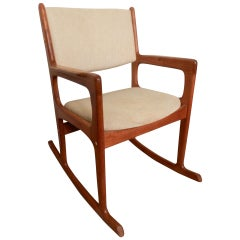Vintage Mid-Century Modern Rocking Chair By Benny Linden
