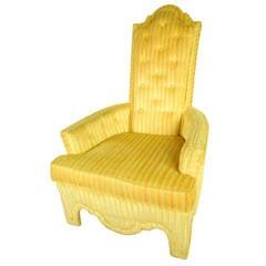 Midcentury High Back Armchair