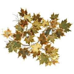 Curtis Jere Style Autumnal Metal Wall Art
