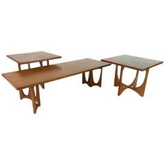 Set of Mid-Century Broyhill Brasilia Tables