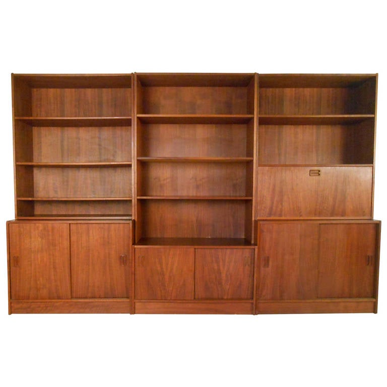 Mid Century Modern Danish Teak Wall Unit at 1stdibs