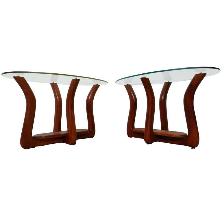 Adrian Pearsall Style Mid-Century Modern Side Tables