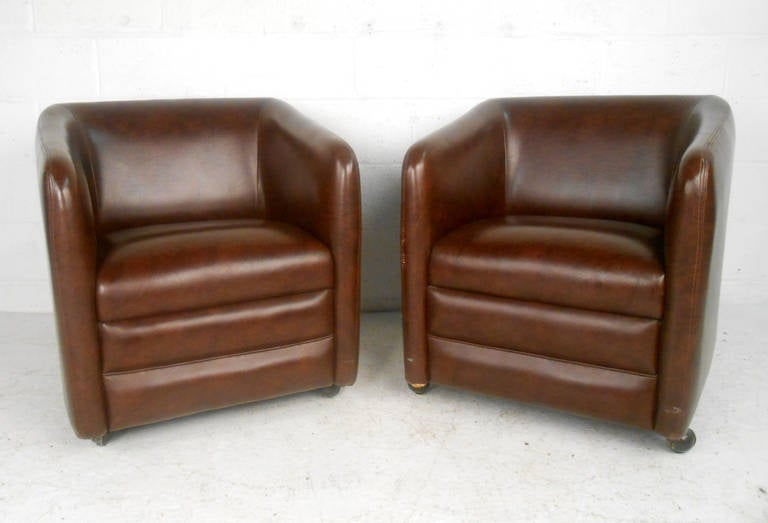 These Comfortable And Stylish Mid Century Vinyl Chairs By Shelby Williams  Industries Are Including Sturdy