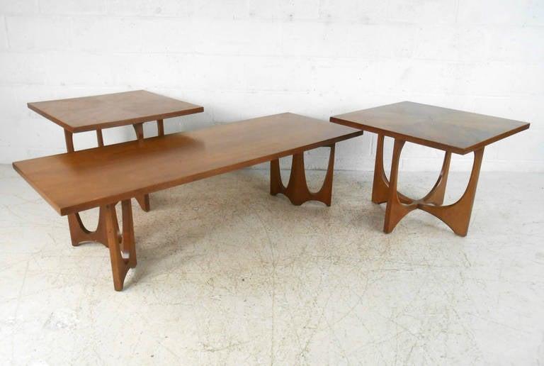 Set Of Mid Century Broyhill Brasilia Tables At 1stdibs