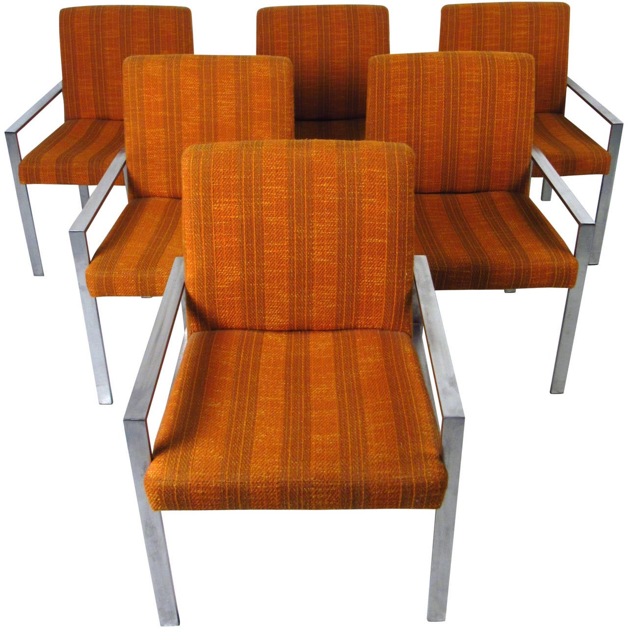 Set of mid century modern knoll style armchairs for sale for Mid century modern armchairs