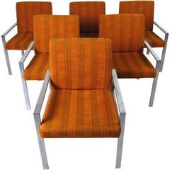 Set of Mid-Century Modern Knoll Style Armchairs