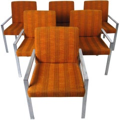 Set of Six Mid-Century Modern Knoll Style Armchairs