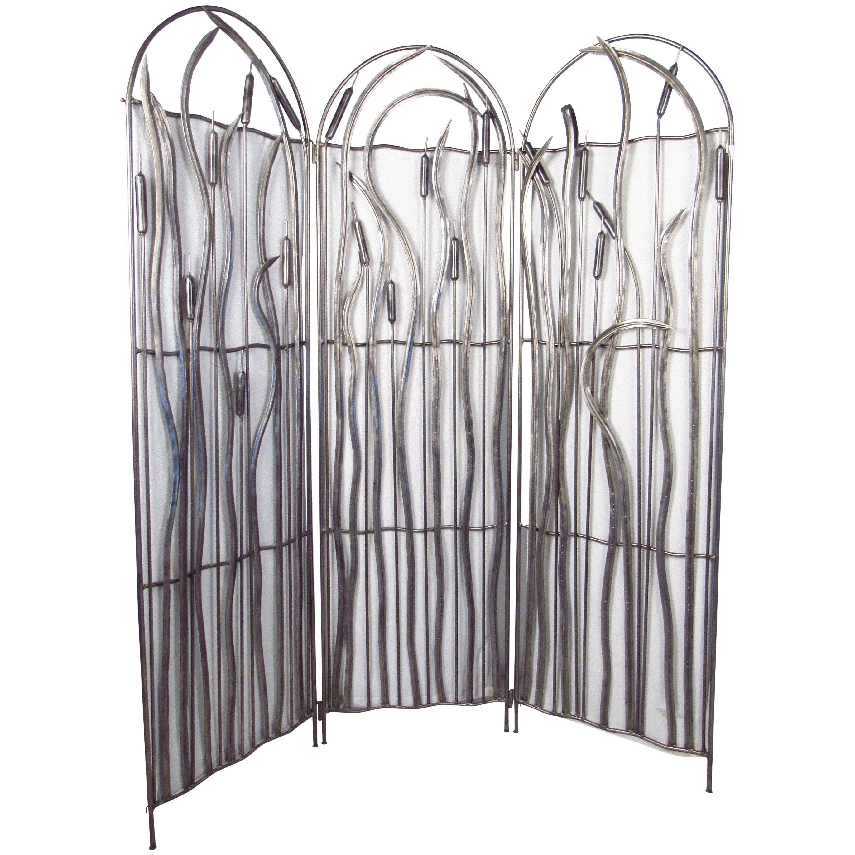 Three-Panel Metal Screen