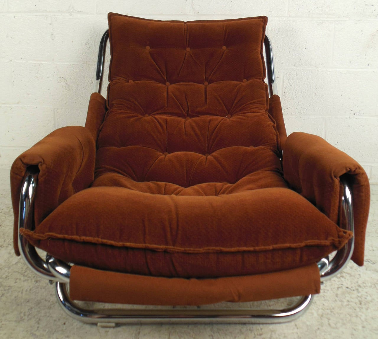 Mid-Century Modern Vintage Modern Sling Style Lounge Chair For Sale