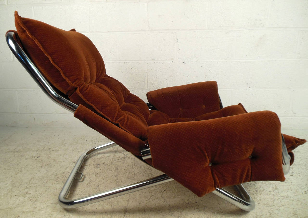 Vintage Modern Sling Style Lounge Chair For Sale 1