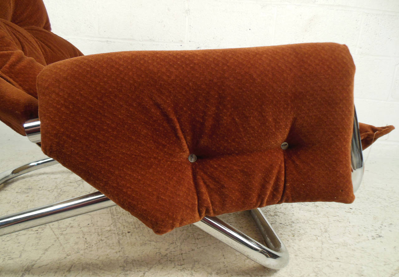 Vintage Modern Sling Style Lounge Chair For Sale 2