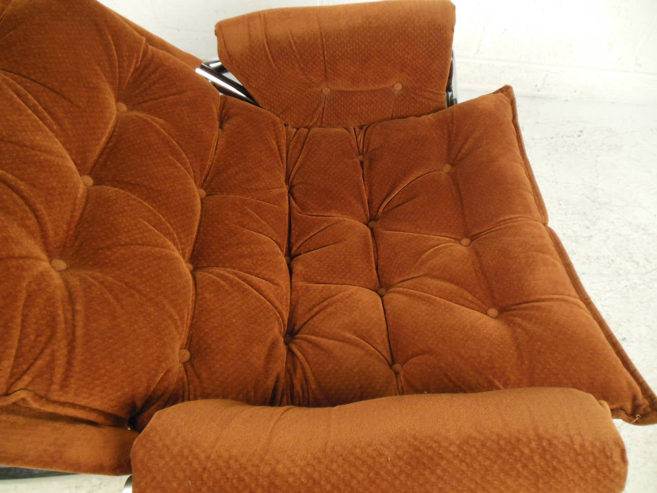 Vintage Modern Sling Style Lounge Chair For Sale 3