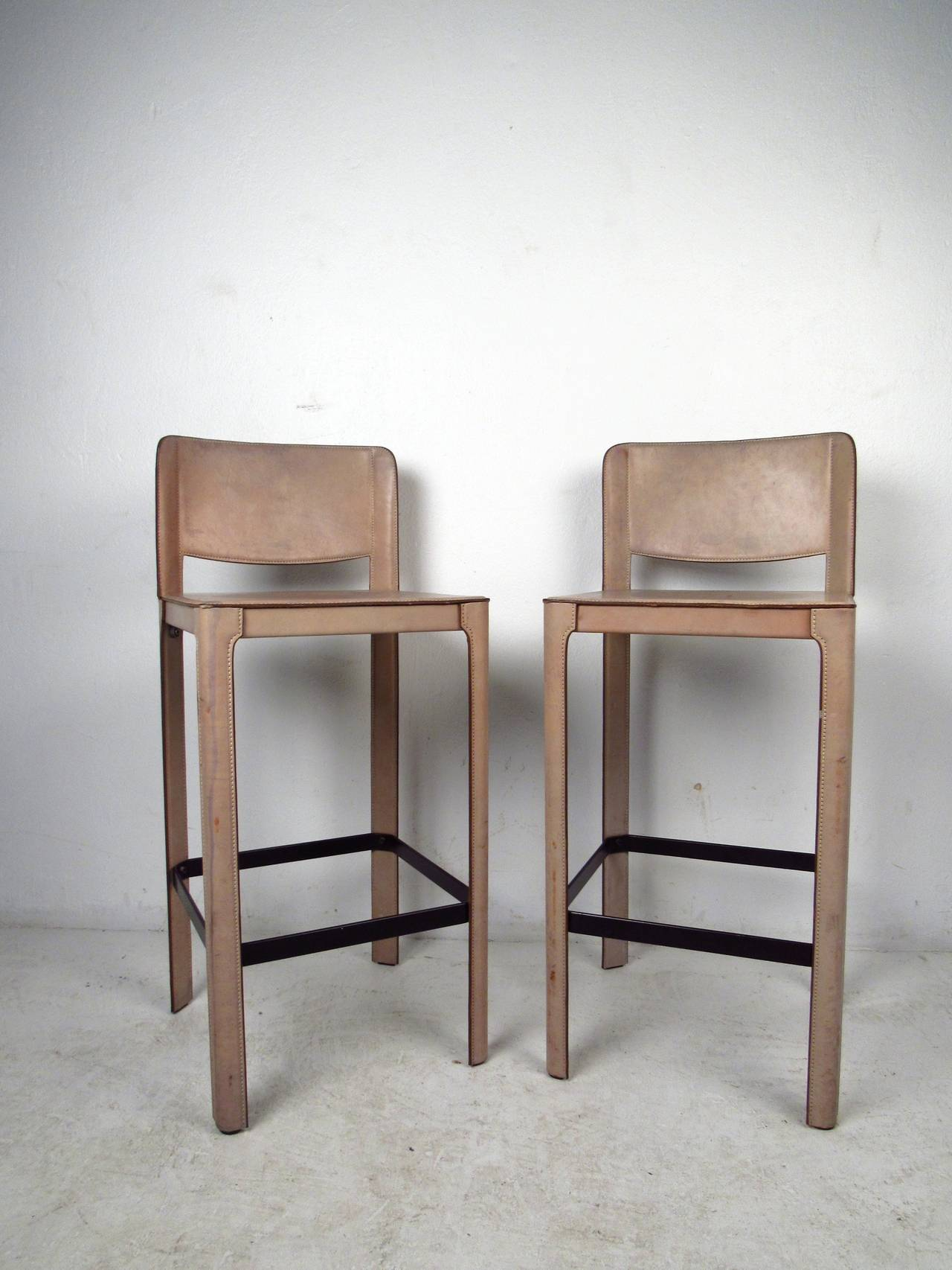 Pair Of Matteo Grassi Bar Stools For Sale At 1stdibs